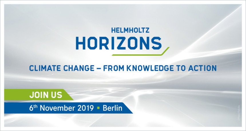 Logo helmholtz-horizons climate change-from knowledge to action 6th november 2019, Berlin