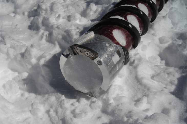drilled ice core of Mt Ortler