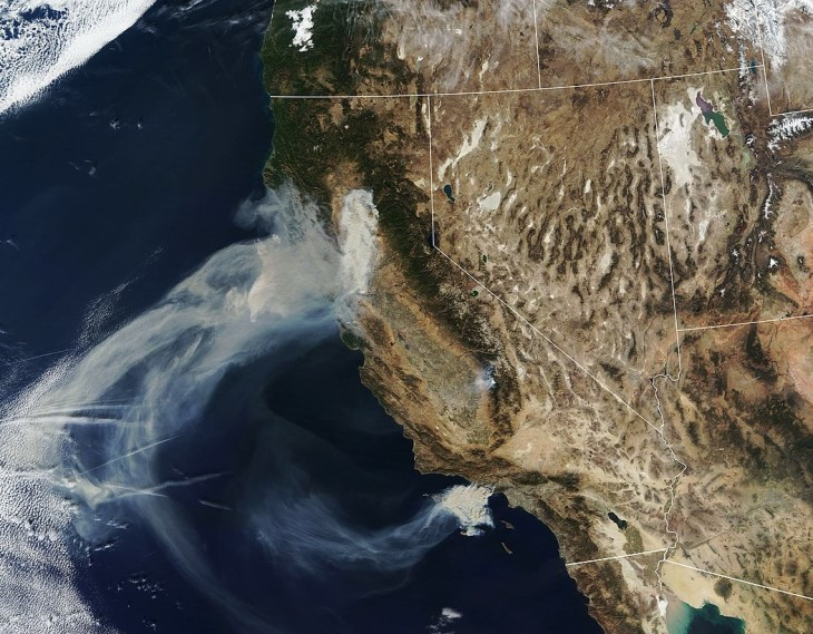 Nov 9 California Wildfires Via Terra